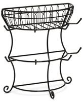 Mikasa Flatback Mug Tree With Wire Basket