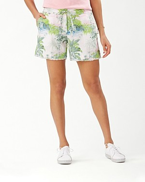 Tommy Bahama Island Hop Linen Printed Shorts