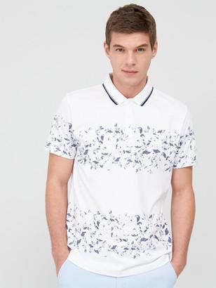 Very Floral Stripe Polo Shirt - White