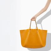 Zara Coloured Leather Shopper