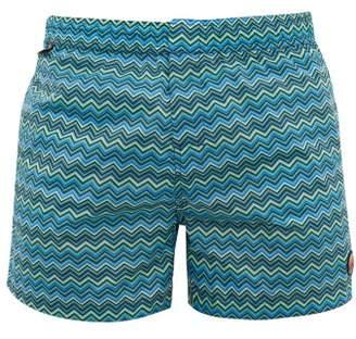 Missoni Mare - Zigzag Print Swim Shorts - Mens - Blue Multi