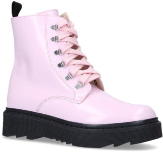 Florens Patent Combat Boots