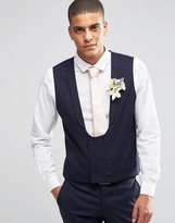 Selected Skinny Morning Wedding Vest with Stretch