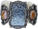 Arunashi Carved Aquamarine And Fire Opal Bracelet