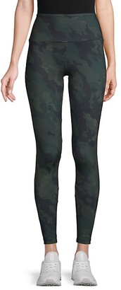 Matty M Camouflage-Print High-Waist Leggings
