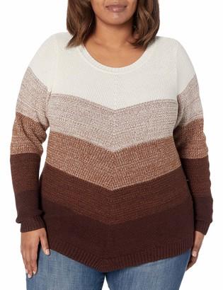 Amy Byer Women's Plus Size Ombre Stripe Sweater