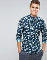 Selected Slim Smart Shirt In Floral Print