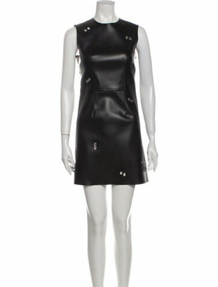 Burberry Crew Neck Mini Dress w/ Tags Black