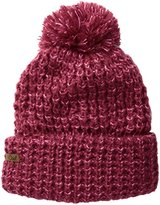 Coal Women's The Kate Waffle-Knit Beanie with Oversized Pom