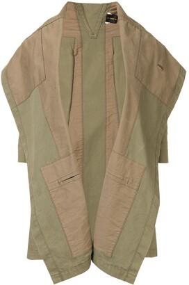 Comme Des Garçons Pre Owned Trompe L'oeil Military Jacket