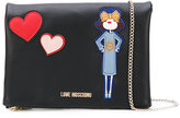 Love Moschino doll patch shoulder bag - women - Polyurethane - One Size