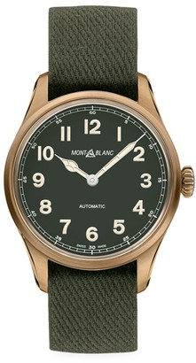 Montblanc 1858 Automatic Limited Edition Bronzetone & Nato Strap Automatic Watch
