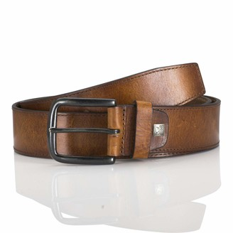 LINDENMANN men's leather belt/men's belt full grain leather
