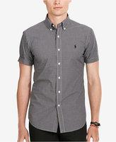 Polo Ralph Lauren Men's Short-Sleeve Checked Poplin Shirt