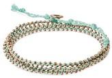 """Wakami Women's Bracelet 3 Wrap - Mint (22"""")"""