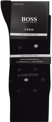 HUGO BOSS Merino Wool Blend Socks (Pack of 2)