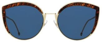 Fendi 58MM Metal Cat Eye Sunglasses