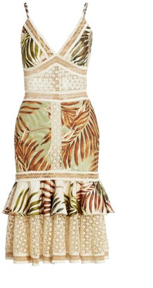 PatBO Palmeira Crochet Trim Midi Dress