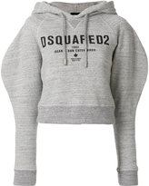 DSQUARED2 cropped logo print hoodie