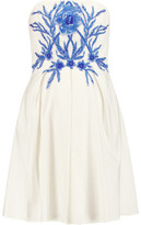 Marchesa Embellished Cotton And Silk-Blend Faille Mini Dress