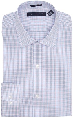 Tommy Hilfiger Slim Fit Stretch Long Sleeve Plaid Dress Shirt