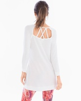 Soma Intimates French Terry Cross Back Long Sleeve Tunic