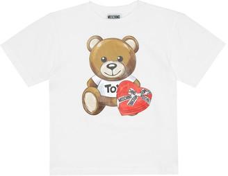 MOSCHINO BAMBINO Logo stretch-cotton jersey T-shirt