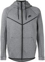 Nike logo hooded cardigan - men - Cotton/Polyester - L