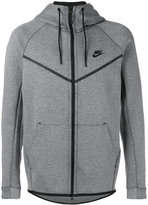 Nike logo hooded cardigan - men - Cotton/Polyester - S