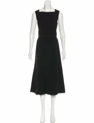 Jason Wu Sleeveless Midi Dress Black
