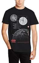 Star Wars Men's Rogue One Blue Print Death Star T-Shirt