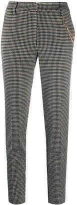 Liu Jo Cropped Houndstooth Trousers