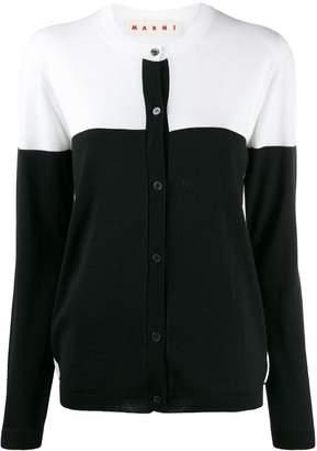 Marni colour block buttoned cardigan