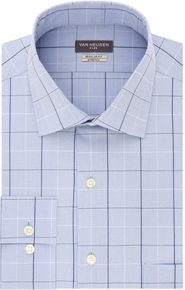 Van Heusen Mens Flex Collar Regular-Fit Stretch Dress Shirt