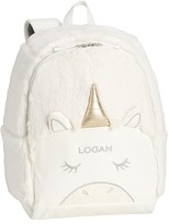 Pottery Barn Kids Mackenzie White Unicorn Fur Critter Backpack