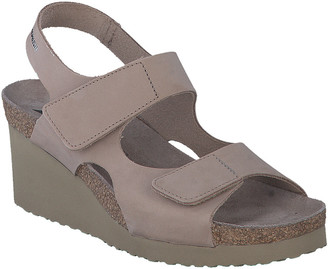 Mephisto Tiny Leather Wedge Sandal