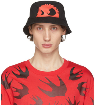 McQ Black and Red Chester Bucket Hat