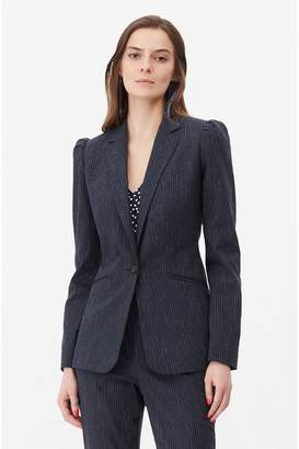 Rebecca Taylor Tailored Pinstripe Suiting Blazer