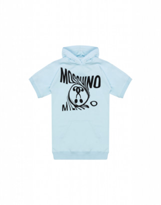 Moschino Double Question Mark Dress Woman Blue Size 4a It - (4y Us)