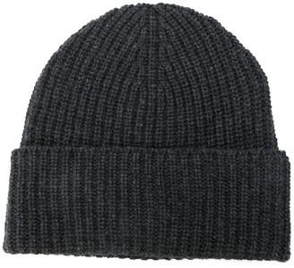 Agnona Rib Knit Cashmere Beanie Hat