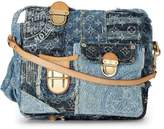 Louis Vuitton Limited Edition Blue Denim Patchwork Posty