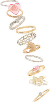 Capelli New York Cappelli New York 10-Pack Assorted Rings