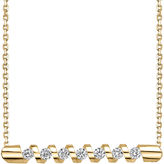 Sirena 1/4 CT. T.W. Diamond 14K Yellow Gold Bar Pendant Necklace