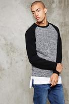 Forever 21 FOREVER 21+ Marled Knit Raglan Sweater