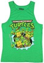 Nickelodeon Teenage Mutant Ninja Turtles Men's Distressed Graphic Tank Top Shirt