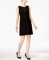 MSK Sleeveless Zip-Front Shift Dress