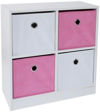 Lloyd Pascal 4 Cube Storage Unit Pink/White