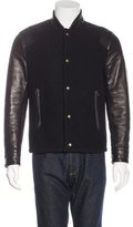 Givenchy Leather & Wool Bomber Jacket w/ Tags