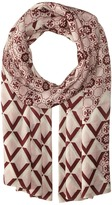 Tory Burch Logo Mosaic and Signature Print Oblong Scarves