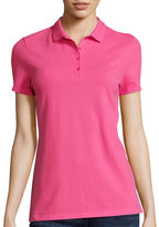 ST. JOHN'S BAY St. John's Bay Fitted Polo Shirt